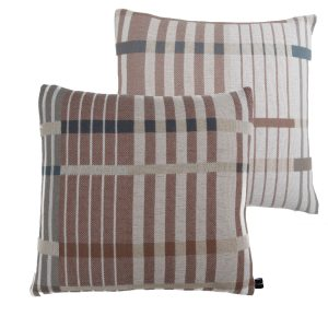 Optic Stripe cushion con dos caras